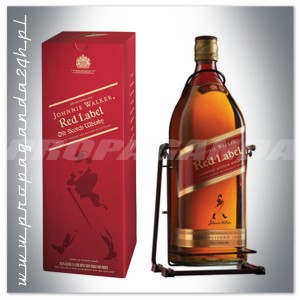 JOHNNIE WALKER RED LABEL WHISKY 4,5L + HUŚTAWKA