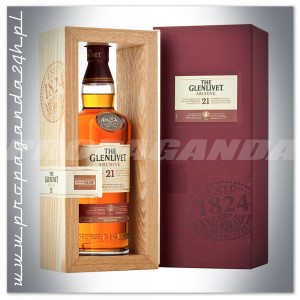 THE GLENLIVET 21YO ARCHIVE WHISKY SINGLE MALT 0,7L + opakowanie