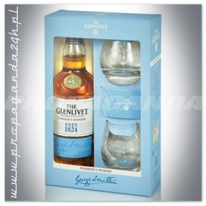 THE GLENLIVET FOUNDER'S RESERVE WHISKY SINGLE MALT 0,7L + 2 SZKLANKI