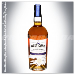 WEST CORK 12YO PORT CASK SINGLE MALT IRISH WHISKEY 0,7L