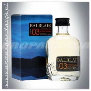 BALBLAIR SINGLE MALT WHISKY 2003 + KARTONIK 0,05L (MINI)