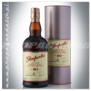 GLENFARCLAS 40YO WHISKY SINGLE MALT + TUBA 0,7L