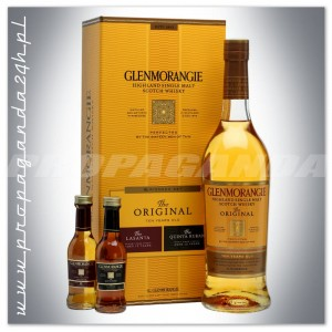 GLENMORANGIE 10YO THE ORIGINAL WHISKY 0,7L + 2 MINI 0,05L