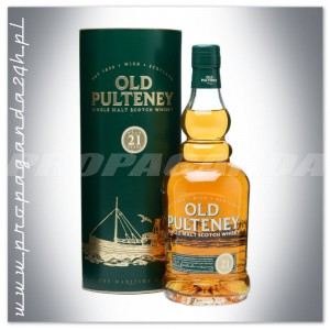 OLD PULTENEY 21YO WHISKY SINGLE MALT 0,7L + TUBA