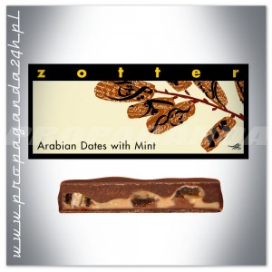 CZEKOLADA Zotter ARABIAN DATES WITH MINT 70G