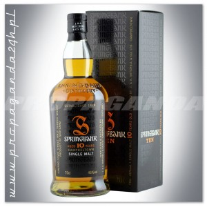 SPRINGBANK 10YO SINGLE MALT WHISKY 0,7L + KARTONIK