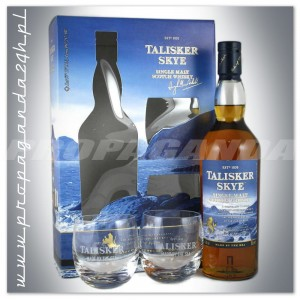 TALISKER SKYE WHISKY SINGLE MALT 0,7L + 2 SZKLANKI