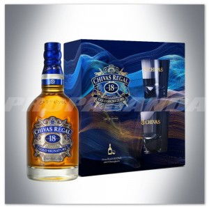 CHIVAS REGAL 18YO WHISKY 0,7L + 2 SZKLANKI