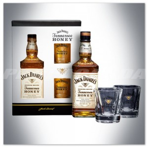 JACK DANIEL'S HONEY 0,7L + 2 SZKLANKI