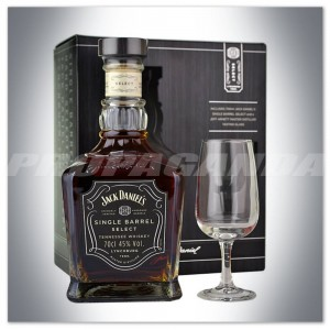 JACK DANIEL'S SINGLE BARREL 0,7L + KIELISZEK