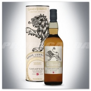 GAME OF THRONES 'House Lannister' - LAGAVULIN 9YO WHISKY 0,7L + TUBA