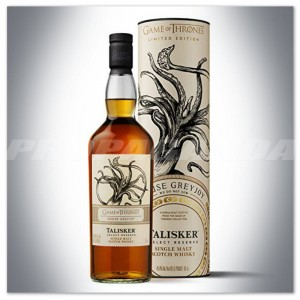 GAME OF THRONES 'House GreyJoy' - TALISKER SELECT RESERVE WHISKY 0,7L + TUBA