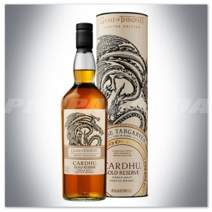 GAME OF THRONES 'House Targaryen' - CARDHU GOLD RESERVE WHISKY 0,7L + TUBA