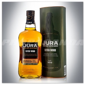 JURA SEVEN WOOD WHISKY SINGLE MALT 0,7L + TUBA
