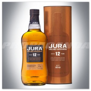 JURA 12YO WHISKY SINGLE MALT 0,7L + TUBA