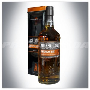 AUCHENTOSHAN AMERICAN OAK SINGLE MALT WHISKY 0,7L + PUSZKA