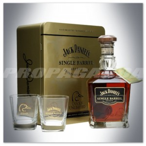 JACK DANIEL'S SINGLE BARREL DUCKS UNLIMITED 2010 0,75L + SZKLANKI /PUSZKA
