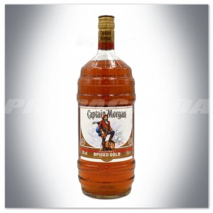 CAPTAIN MORGAN SPICED GOLD RUM LIMITED EDITION BARREL BOTTLE 1,5L