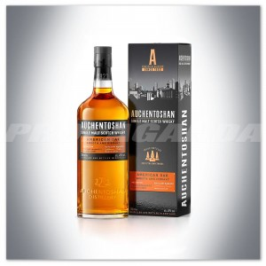 AUCHENTOSHAN AMERICAN OAK SINGLE MALT WHISKY 0,7L + KARTONIK