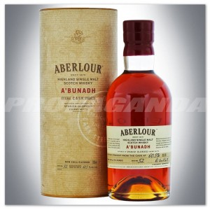 ABERLOUR A'BUNADH WHISKY SINGLE MALT  0,7L + TUBA