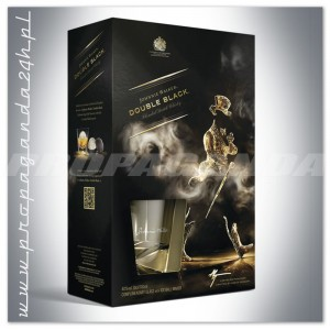 JOHNNIE WALKER DOUBLE BLACK WHISKY 0,7L + 2 SZKLANKI