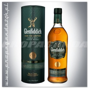 GLENFIDDICH CASK COLLECTION SELECT WHISKY 1,0L + TUBA
