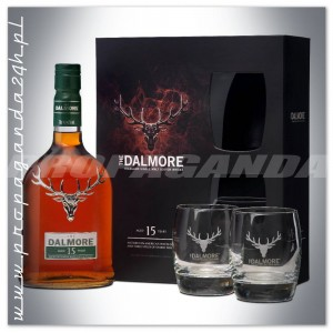 THE DALMORE 15YO WHISKY SINGLE MALT 0,7L + 2 SZKLANKI