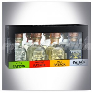 TEQUILA PATRON MINI SET 4*50ML (SILVER, ANEJO, REPOSADO, XO CAFE)
