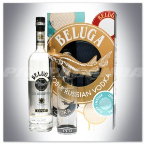 BELUGA NOBLE RUSSIAN VODKA EXPORT 0,7L + SZKLANKA