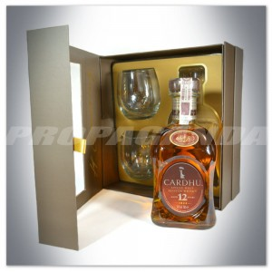 CARDHU 12YO WHISKY SINGLE MALT 0,7L + 2 SZKLANKI