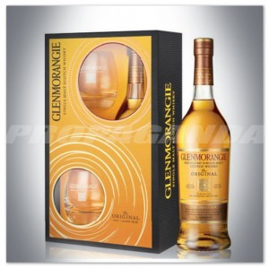 GLENMORANGIE 10YO THE ORIGINAL WHISKY 0,7L + SZKLANKI