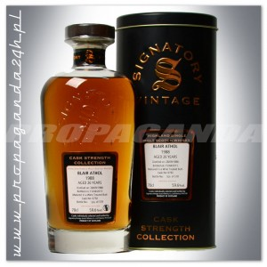 BLAIR ATHOL 1988 SIGNATORY 26YO SINGLE MALT 0,7L + PUSZKA