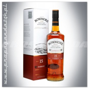 BOWMORE 15YO DARKEST WHISKY SINGLE MALT 0,7L + KARTON