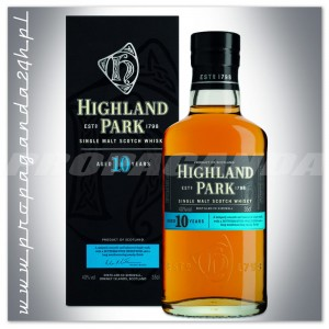 HIGHLAND PARK 10YO WHISKY SINGLE MALT 0,35L + OPAKOWANIE