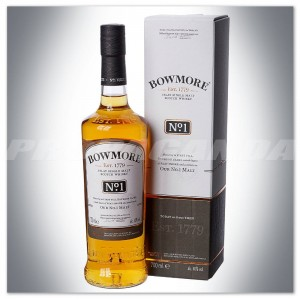 BOWMORE NO 1 WHISKY SINGLE MALT 0,7L + KARTONIK
