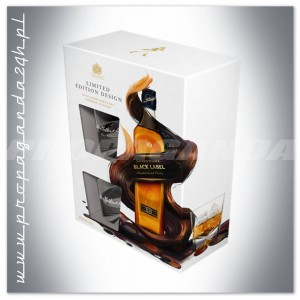 JOHNNIE WALKER BLACK LABEL WHISKY 0,7L + 2 SZKLANKI