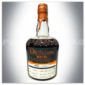 "DICTADOR RUM ""BEST OF 1978"" AMERICAN OAK 0,7L - LIMITED RELEASE"