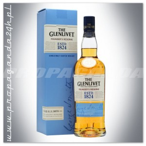 THE GLENLIVET FOUNDER'S RESERVE WHISKY SINGLE MALT 0,7L + KARTON
