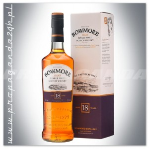 BOWMORE 18YO WHISKY SINGLE MALT 0,7L + KARTON