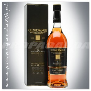 GLENMORANGIE 12YO THE QUINTA RUBAN WHISKY 0,7L  + KARTON