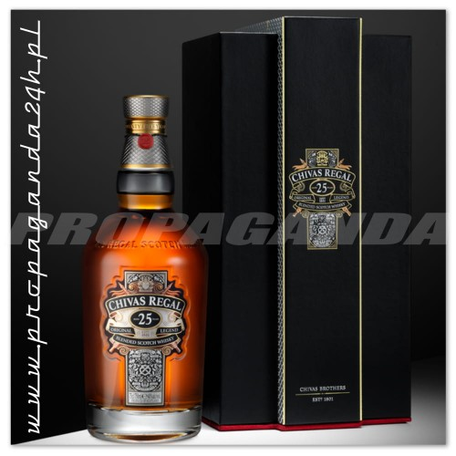 CHIVAS REGAL 25YO WHISKY 0,7L + KUFER SKÓRZANY