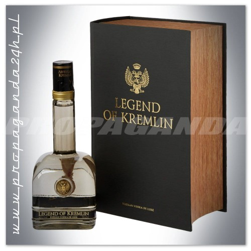LEGEND OF KREMLIN PREMIUM RUSSIAN VODKA 0,7L + KSIĄŻKA